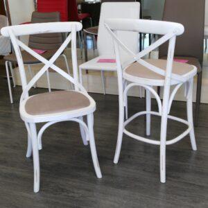 Stapelbarer Stuhl aus Aluminium und textilene, in Bambus-Stil ...